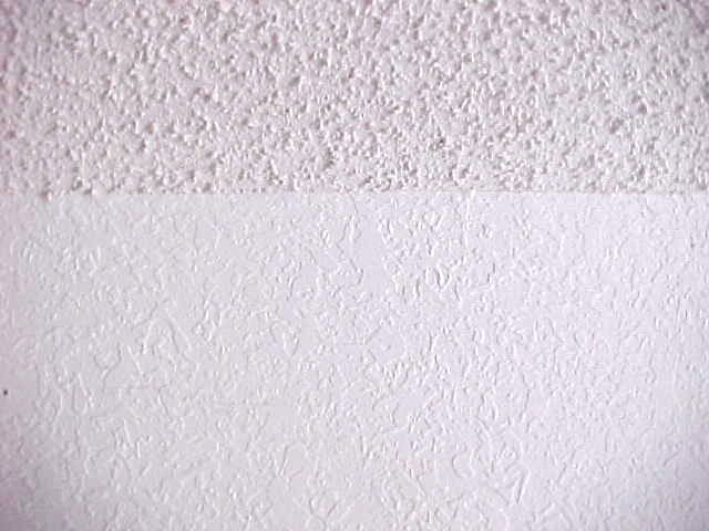 Acoustic texture ceiling with knockdown on the walls - KL Drywall LLC